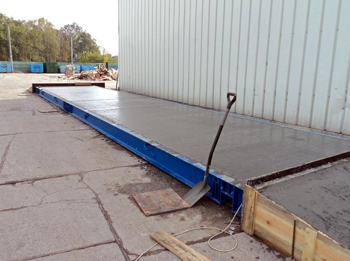Mostna tehtnica iz betona
